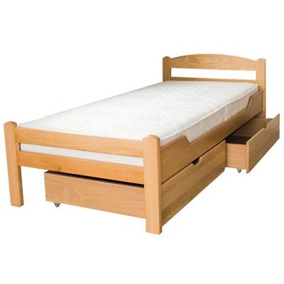 Dve drvene fioke za posteljinu 90x200cm Natur boja