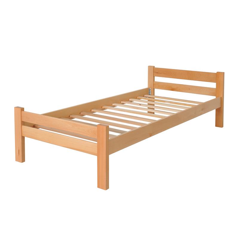 Drveni krevet Ravni 90x200cm Natur boja pogled 2
