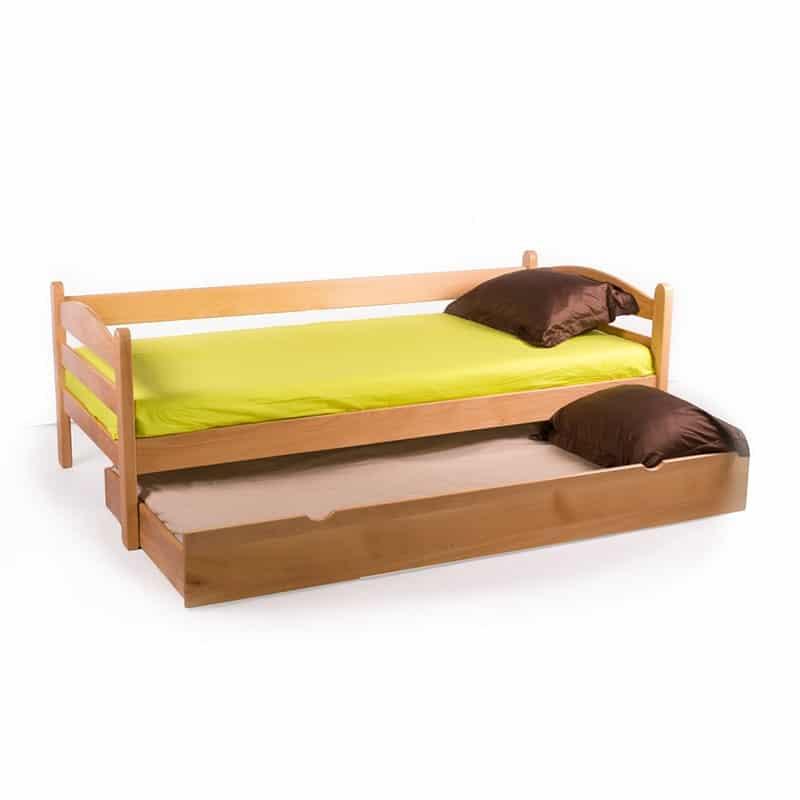 Drveni krevet Sofa 90x200cm Natur boja pogled 2