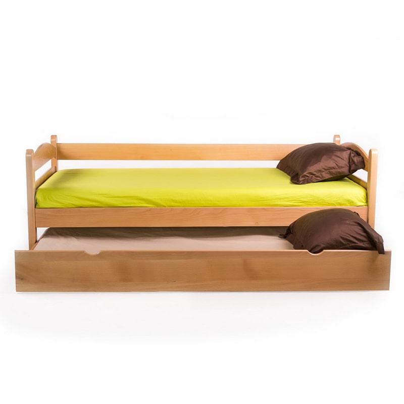 Drveni krevet Sofa 90x200cm Natur boja pogled 3