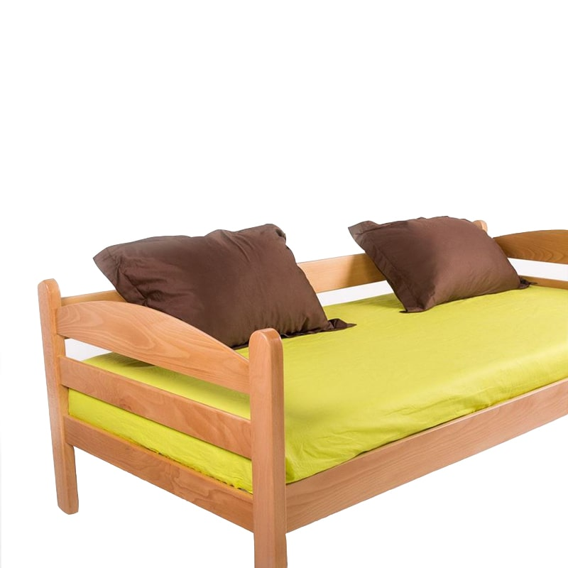 Drveni krevet Sofa 90x200cm Natur boja pogled 4