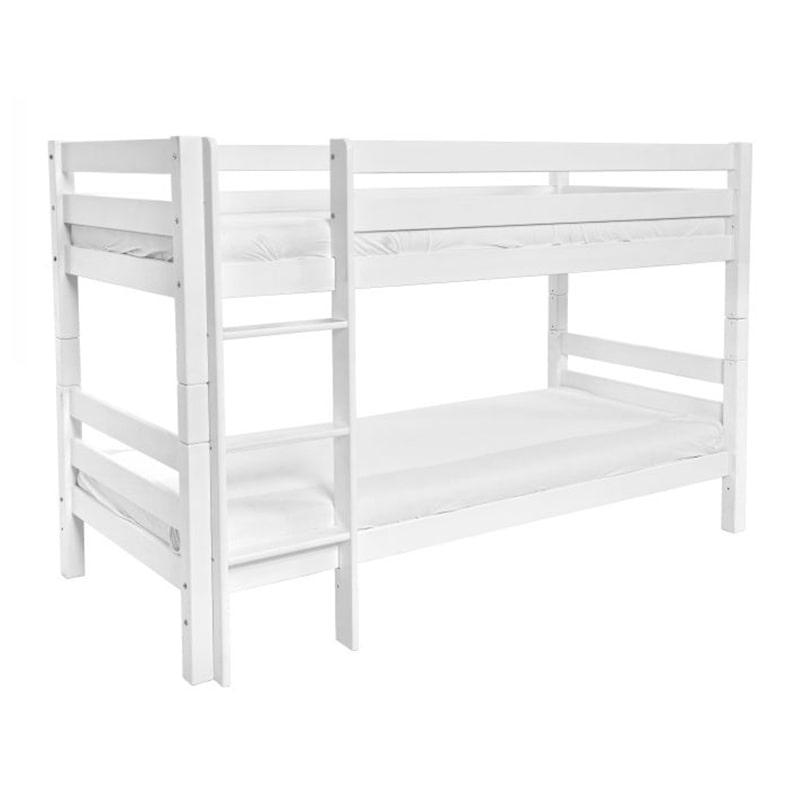 Drveni krevet Spratni 90x200cm bela boja