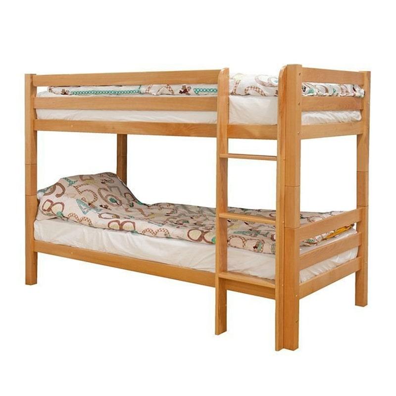 Drveni krevet Spratni 90x200cm Natur boja pogled 1