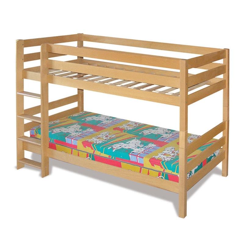 Drveni krevet Spratni 90x200cm Natur boja pogled 2