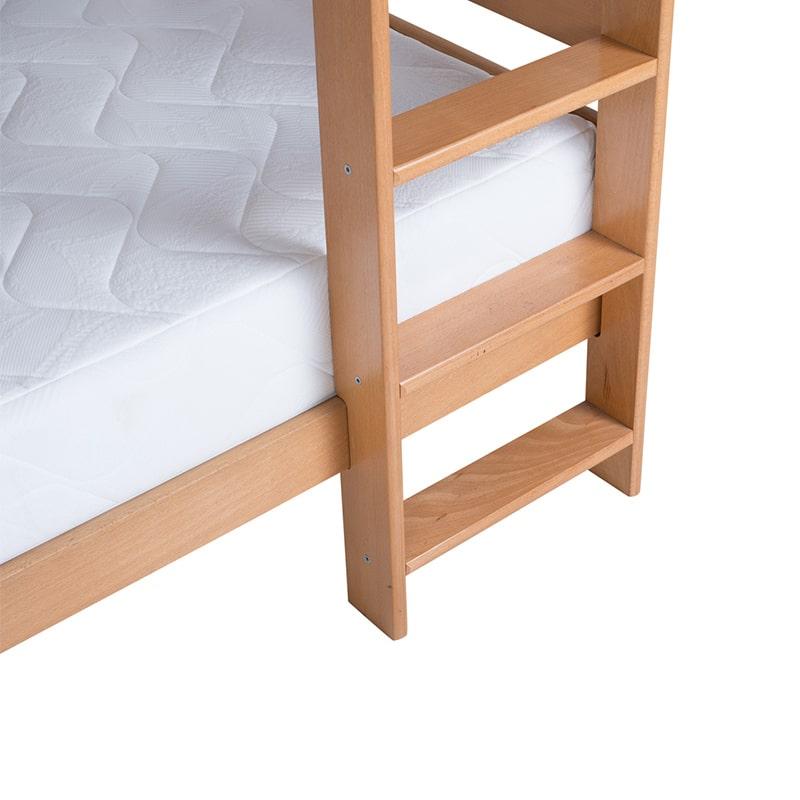 Drveni krevet Spratni 90x200cm Natur boja pogled 3
