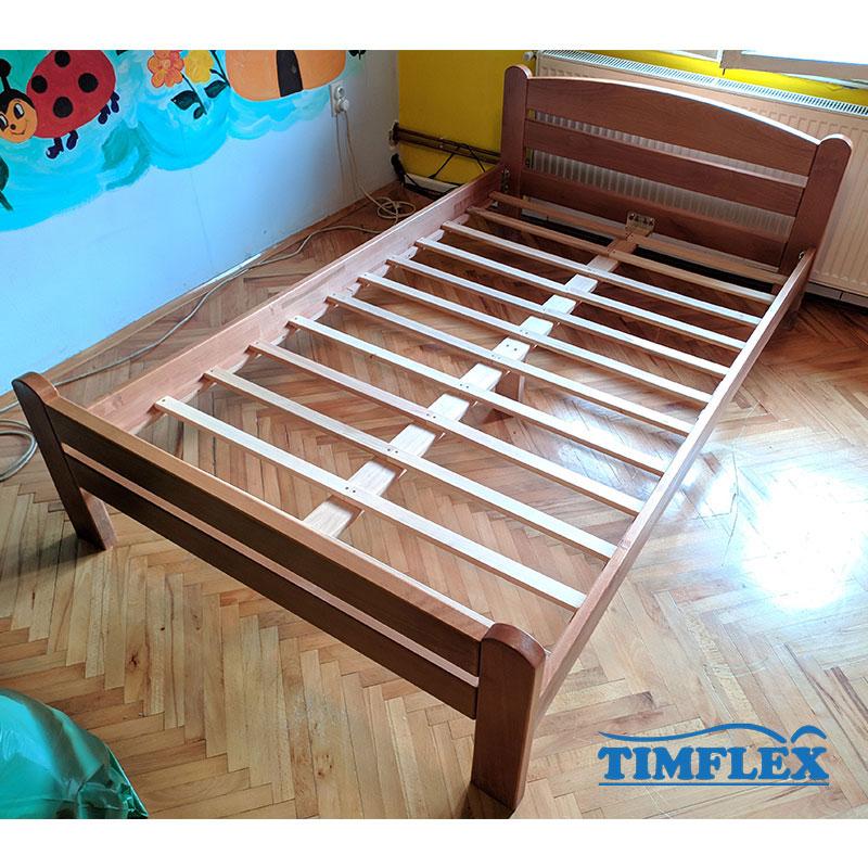 Drveni krevet Dp masiv 120x200cm natur boja 2