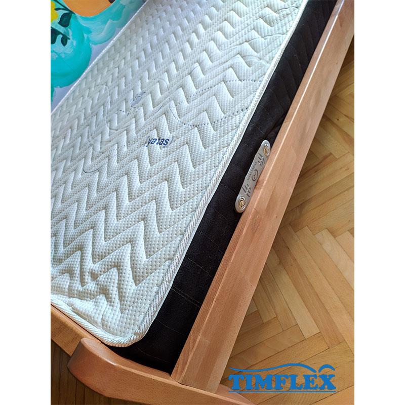 Drveni krevet Dp masiv 120x200cm natur boja 3