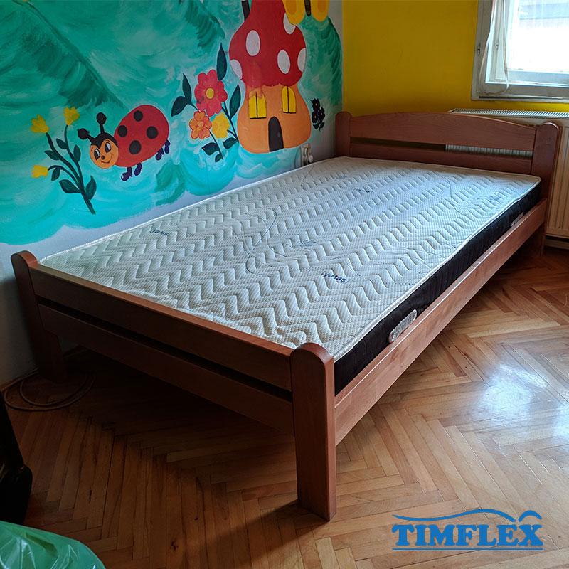 Drveni krevet dp masiv 120x200cm natur boja