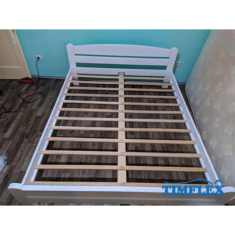 Drveni krevet Dp masiv 160x200cm bela boja 2
