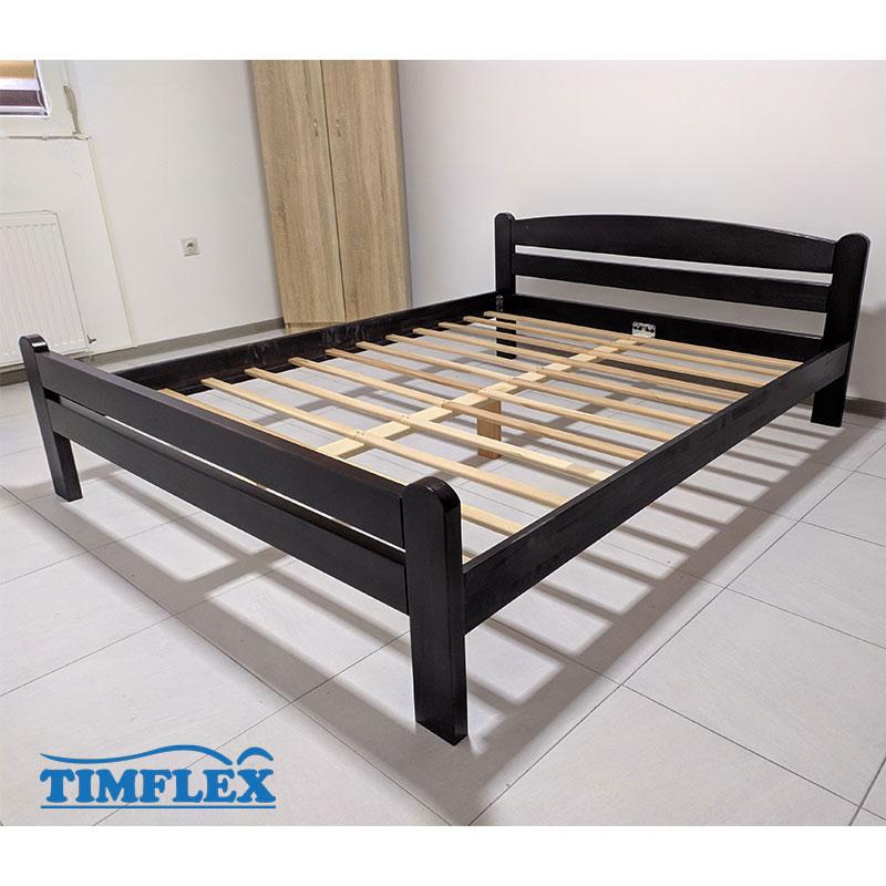 Drveni krevet Dp masiv 160x200cm wenge boja apartman 2