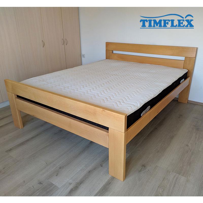 Drveni krevet lara povisen 160x200cm natur 2
