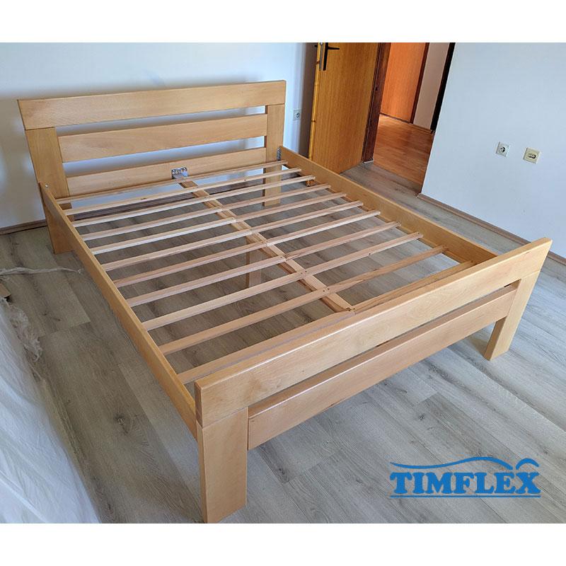 Drveni krevet lara povisen 160x200cm natur