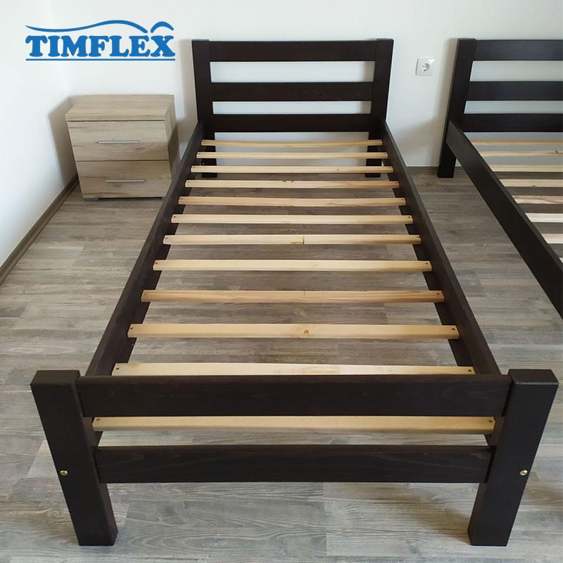 Drveni krevet Ravni 90x200cm Orah boja apartman 2