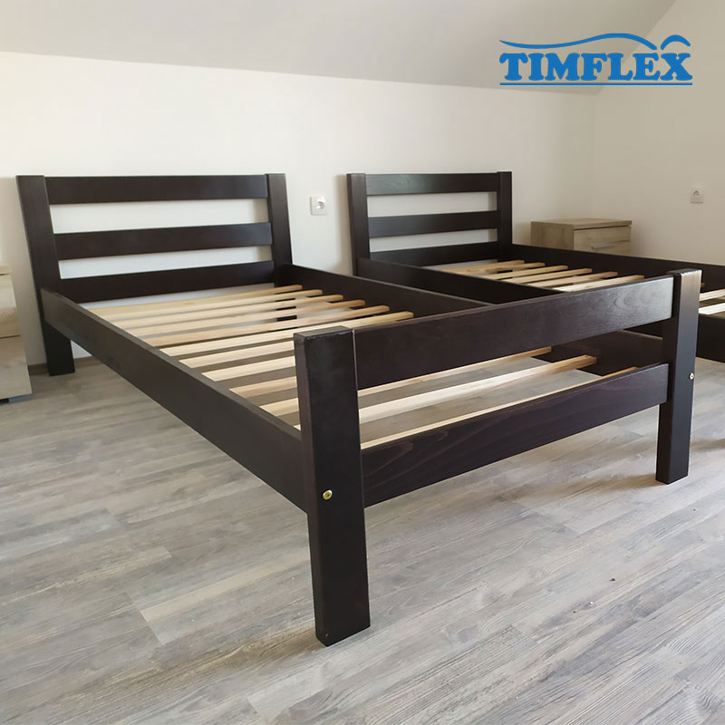 Drveni krevet ravni 90x200cm Orah boja apartman
