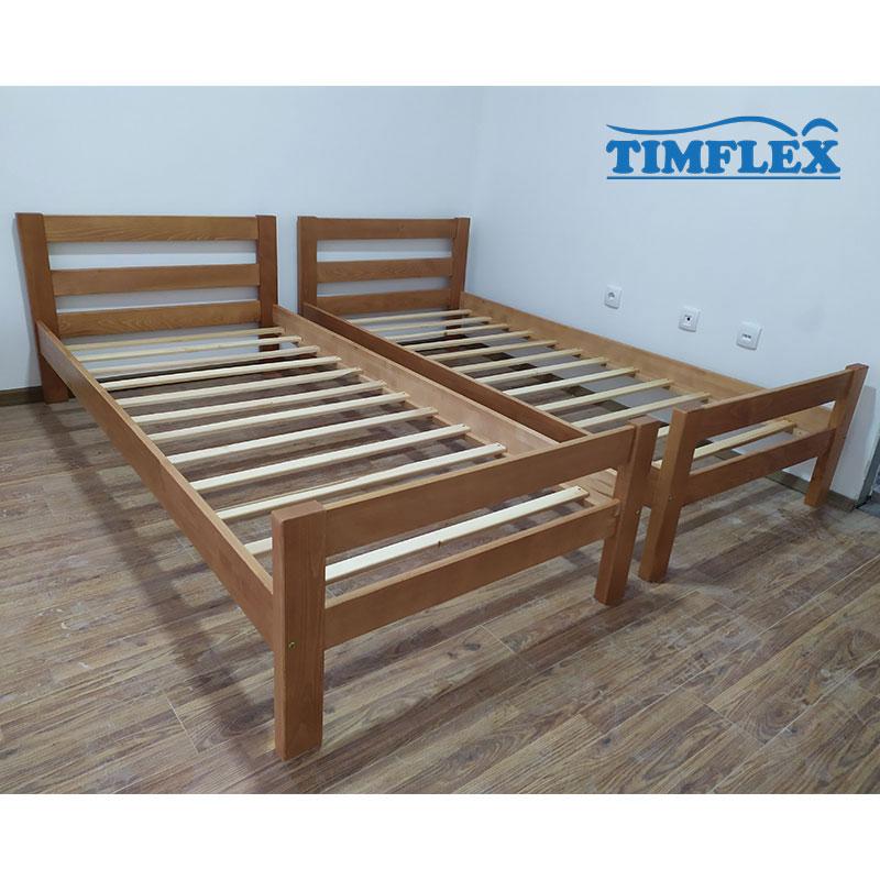 Drveni krevet ravni 90x200cm natur boja apartman